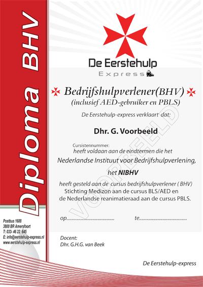 eerste hulp certificaat